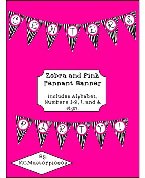 Zebra Print and Pink Pennant Banner
