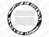 Bulletin Board Headers: Zebra print (editable)