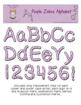 Zebra Purple Alphabet