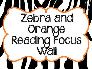 Zebra Reading Focus Wall- Journeys Based