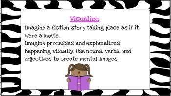 Zebra Reading Strategies PowerPoint