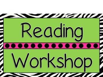 Zebra Reading Workshop rotation posters