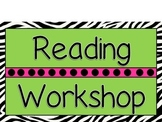 Zebra Reading Workshop rotation posters
