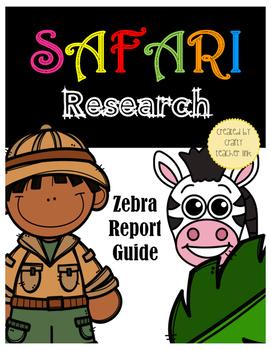 Zebra Research Report (Safari Animal) Printables