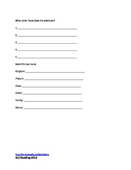 Zebra Review Article Questions Quiz Vocabulary Word Search