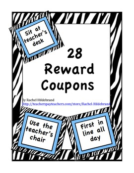 Reward Coupons - Zebra
