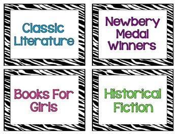 Zebra Rockstar Classroom Library Labels