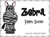 Zebra Room Decor Pack