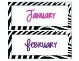 Zebra-Safari Calendar Set