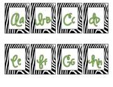 Zebra-Safari Word Wall Letters