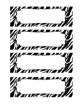 Zebra Schedule Cards - Editable