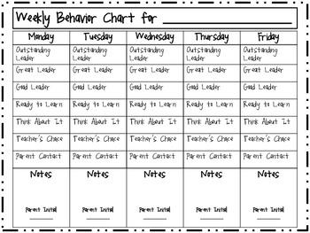 Zebra Scribble Behavior Chart (Clip-up, clip-down)