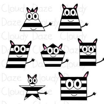 Zebra Shapes Clip Art