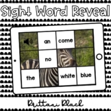 Zebra Sight Word Reveal Set 4   Kindergarten Boom Cards