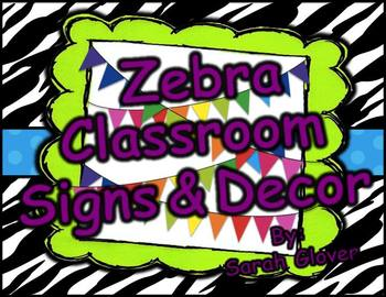 Zebra Signs and Decor Pack
