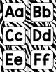 Zebra Stripe Word Wall Alphabet Headers--4 color options