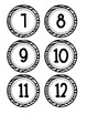 Zebra Striped Number Cards
