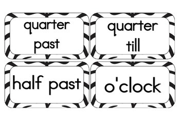 Zebra Stripes Clock Numbers