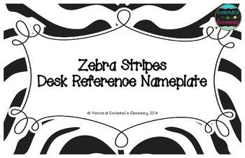 Zebra Stripes Desk Reference Nameplates