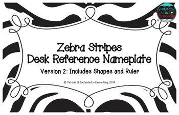Zebra Stripes Desk Reference Nameplates Version 2