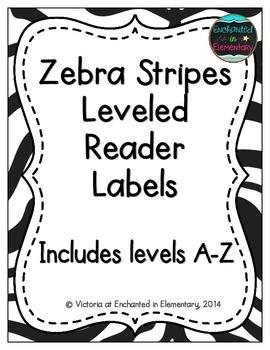 Zebra Stripes Leveled Reader Labels