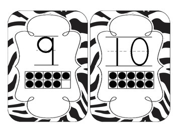 Zebra Stripes Number Cards 1-20