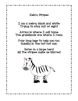 Zebra Stripes Poem