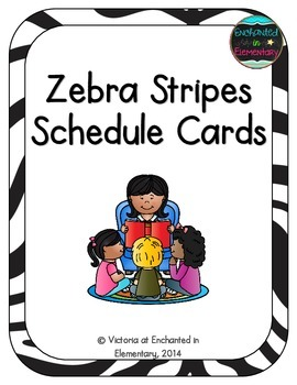 Zebra Stripes Schedule Cards