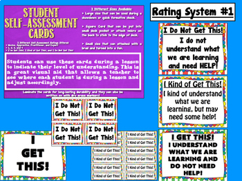 Zebra Stripes Student Progress and Self Assessment/Formative Check Cards