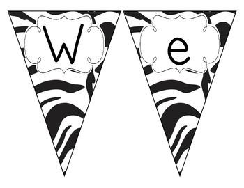 Zebra Stripes Welcome Pennant