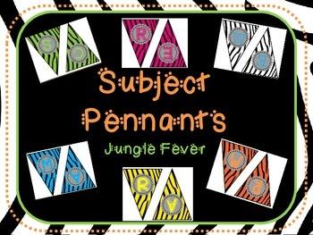 Zebra Subject Pennants