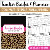 Leopard Teacher Binder