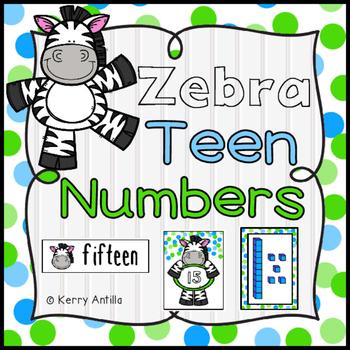 Zebra Teen Numbers