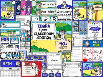 Zebra Theme Decor Pack