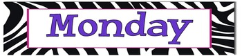 Zebra Theme Labels