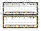 Zebra Theme Name Plates in Zanor Font