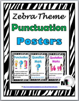 Punctuation Posters - Zebra Theme
