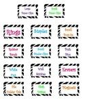 Zebra Theme Teacher Toolbox Labels