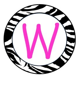 Zebra Theme Welcome Classroom Door Sign