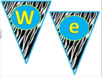 """Zebra """"Welcome"""" Pennant"""