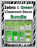 Zebra Theme Classroom Decor Bundle