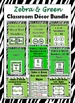 Zebra Theme Classroom Decor Bundle - More Than 50% Discount