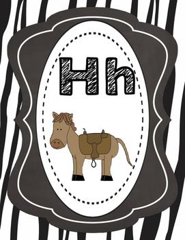 Zebra Themed Alphabet