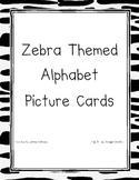 Zebra Themed Alphabet Cards
