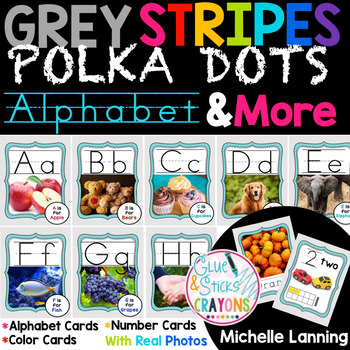 Grey Skies Neutral Themed Alphabet,Colors and Numbers with