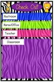 Zebra Themed Checkout Sheet