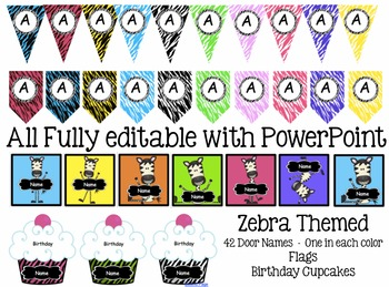 Zebra Themed Classroom Decorations - Fully Decorated