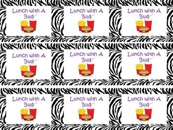 Zebra Themed Classroom Reward Coupons