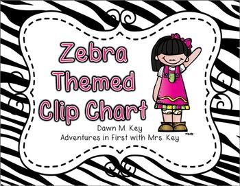 Zebra Themed Clip Chart