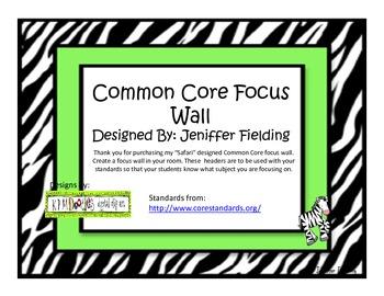 Zebra Themed Focus Wall Header